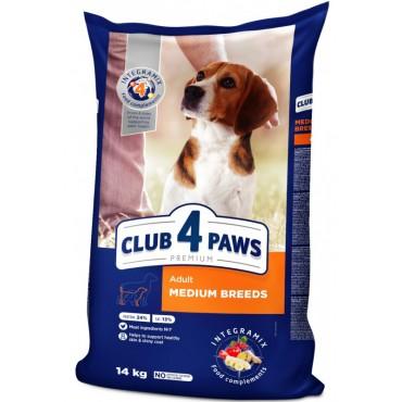Сухой корм для собак средних пород Клуб 4 Лапы Premium