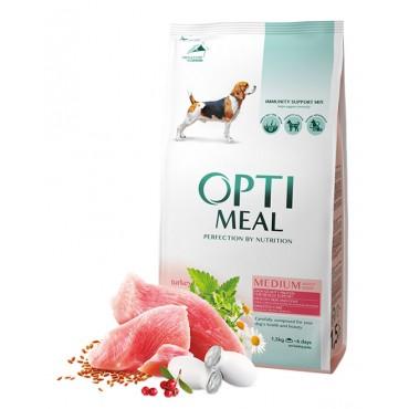 Сухой корм для собак средних пород Optimeal Medium Adult Dogs с индейкой