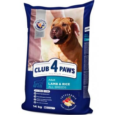 Сухой корм для собак всех пород с ягненком и рисом Клуб 4 Лапы Premium