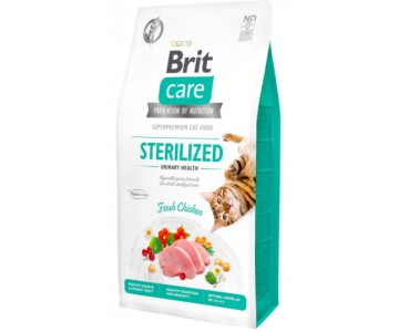 Сухой корм для стерилизованных кошек Brit Care Cat GF Sterilized Urinary Health