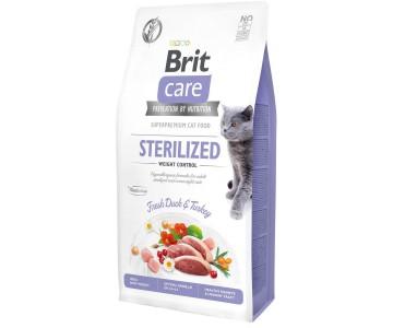 Сухой корм для стерилизованных кошек Brit Care Cat GF Sterilized Weight Control