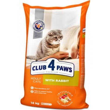 Сухой корм для взрослых кошек Клуб 4 лапы Premium с кроликом