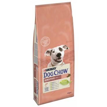 Сухой корм для взрослых собак с лососем Dog Chow Sensitive Salmon 14 кг