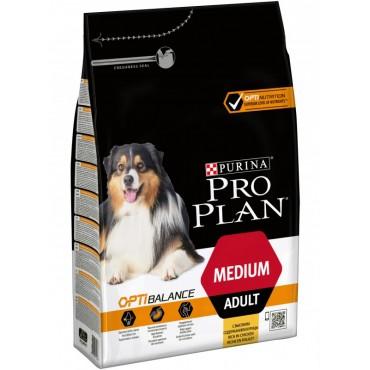 Сухой корм для взрослых собак средних пород Pro Plan Medium Adult Chiken