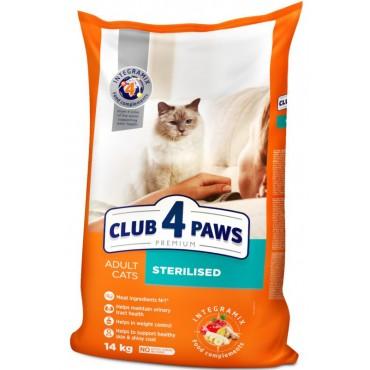 Сухой корм для взрослых стерилизованных кошек Клуб 4 Лапы Premium