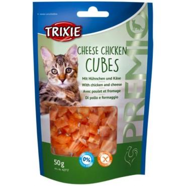 Лакомство для кошки Trixie Premio Cheese Chicken Cubes сыр/курица, 50 гр (42717)