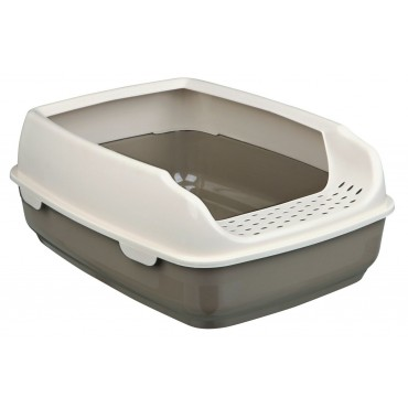 Туалет для кошек Trixie Delio с бортиком тауп/крем (40393)
