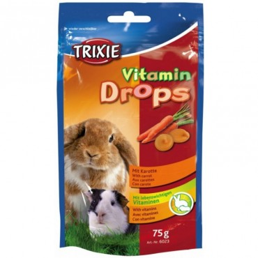 Витамины для грызунов Trixie Drops 75 гр каротин (6023)