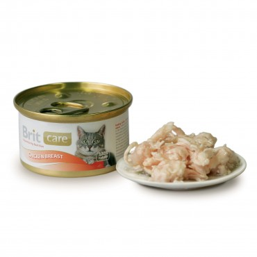 Влажный корм для кошек Brit Care Cat Chicken Breast 80 г (куриная грудка) (101262/100064/3063)