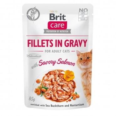 Влажный корм для кошек Brit Care Cat pouch 85 г (филе лосося в соусе) (100530/0525)