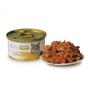 Влажный корм для кошек Brit Care Cat Tuna, Carrot and Pea 80 г (тунец, морковь и горох) (101266/100062/3049)