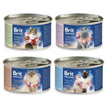 Влажный корм для кошек Brit Premium by Nature Cat k 200 гр
