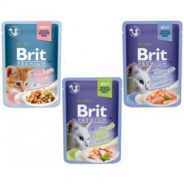 Влажный корм для кошек Brit Premium Cat pouch, 85 гр