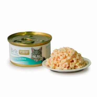 Влажный корм для котят Brit Care Cat Kitten Chicken 80 г (курица и сыр) (101265/100061/3032)