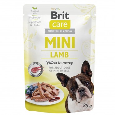 Влажный корм для собак Brit Care Mini pouch 85 g филе в соусе (ягненок) (100215/4401)