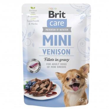 Влажный корм для собак Brit Care Mini pouch 85 г филе в соусе (дичь) (100220/4456)