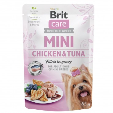 Влажный корм для собак Brit Care Mini pouch 85 г филе в соусе (курица и тунец) (100217/4425)