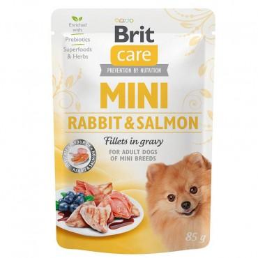 Влажный корм для собак Brit Care Mini pouch 85 г филе в соусе (лосось и кролик) (100218/4432)