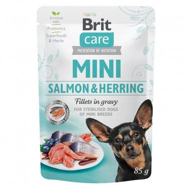 Влажный корм для собак Brit Care Mini pouch 85 г филе в соусе (лосось и сельдь) (100219/4449)