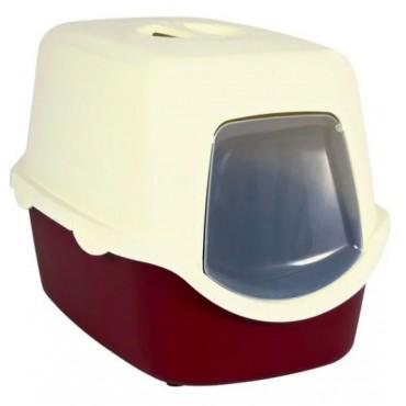 Закрытый туалет для кошек Trixie Vico Litter Tray бордовый/кремовый (40273)