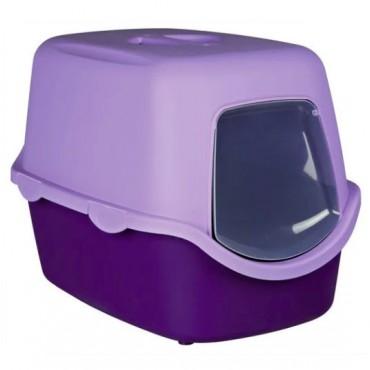 Закрытый туалет для кошек Trixie Vico Litter Tray фиолетовый/сиреневый (40274)