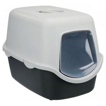 Закрытый туалет для кошек Trixie Vico Litter Tray графитовый/светло-серый (40271)