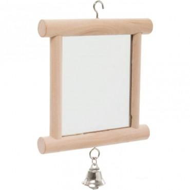 Зеркало с колокольчиком для попугая Trixie деревянное (5860)