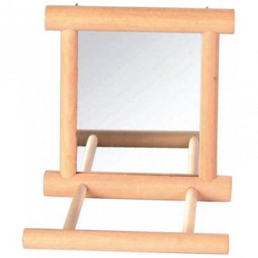 Зеркало с перекладиной деревянное для попугая Trixie (5861)