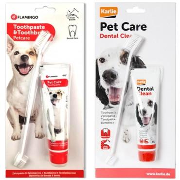Зубная паста и щетка для собак Flamingo Petcare Toothpaste + Toothbrush (510955)